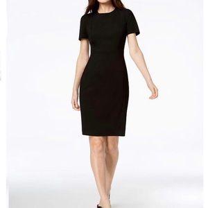 DKNY Black Tropical Wool Work/Office Dress